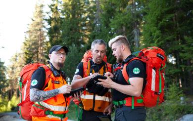 Nettside Soek og redningsmannskap