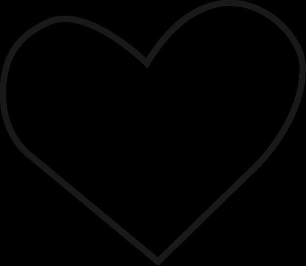 Sort hjerte 4x