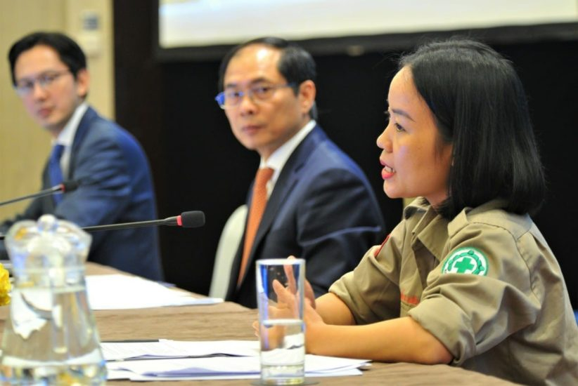 Linh at the briefing 6